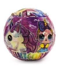 LOL Единорог Surprise Unicorn Кукла в шарике 10 см.