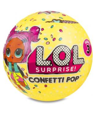 LOL CONFETTI POP 3 SERIES. Кукла-сюрприз в шарике 10 см.