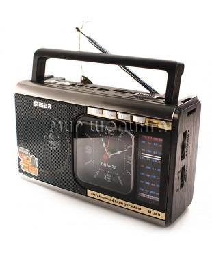 Радиоприемник Meier M-U40 c MP3, фонариком и часами