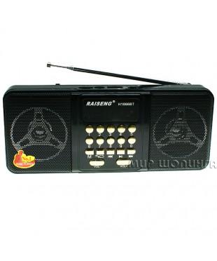 RAISENG H1866BT портативный радиоприёмник-колонка, MP3, Bluetooth