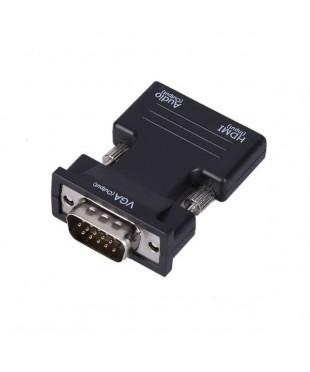 Переходник мама HDMI - папа VGA + аудиовыход