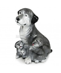 Собака с щенками 34 см.