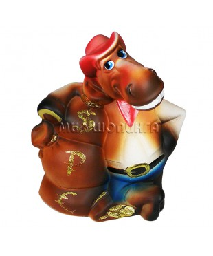 Лошадь с мешками денег (копилка) 27*21*11 см.