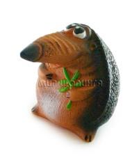 Сувенир Ёжик с веткой 6*6*7,5 см.