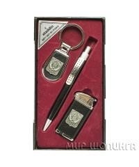 Набор подарочный Герб СССР (зажигалка-турбо, ручка, брелок)