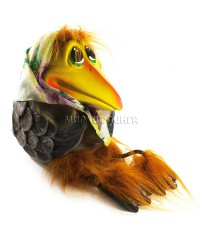 Ворона в платке (копилка ручной работы) 21*17*25 см.