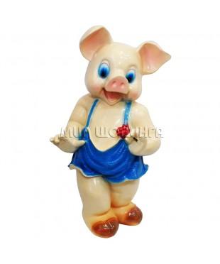 Свинья с розой копилка 37*16*16 см.