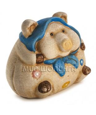 Свинья в платке (копилка) 10*8*12 см.