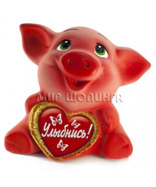 Свинья копилка (Улыбнись) 13*10*15 см.