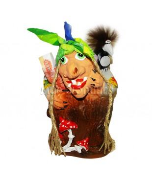 Баба Яга (копилка ручной работы) 24*15*19 см.