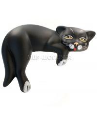 Статуэтка кошка чёрная 14*9,5*20 см.