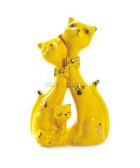 Пара желтых кошек 15*10*5 см.