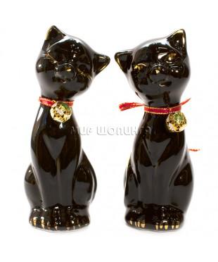 Пара чёрных кошек 12*4*5 см. KL-556