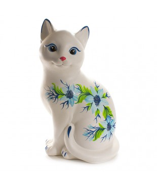 Кошка белая (копилка) 23*11*14 см.