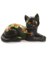 Кошка чёрная (копилка) 15*12*26 см.