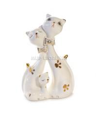 Пара белых кошек 15*10*5 см.