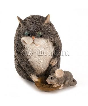 Статуэтка - Кот кормит мышку 8 см.