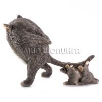 Статуэтка - Кот с мышками у хвоста, 10 см.