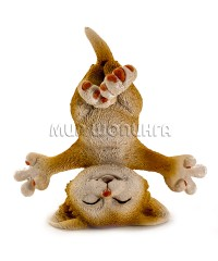 Статуэтка - Кот на голове, 8 см.
