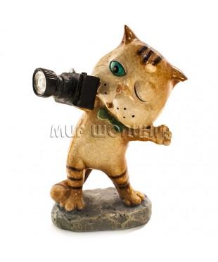 Статуэтка - Кот фотограф 12 см.