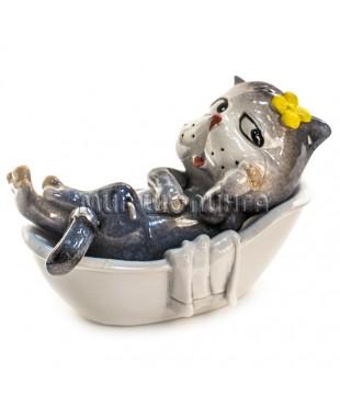 Статуэтка - Кот в ванной 8 см.