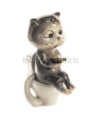 Статуэтка - Кот на унитазе 12 см.