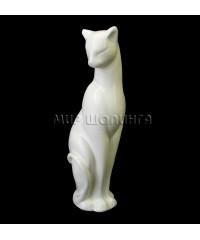Кошка грация (цвет белый) 11 см.