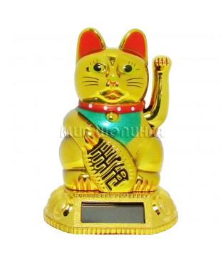 """Кот """"Манеки Неко"""" на солнечных батареях 11*6,5*6,5 см."""