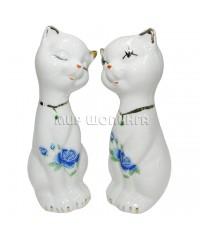 Пара белых кошек 12,5*5*4,5 см.