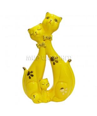Пара желтых кошек 21*12,5*5 см.
