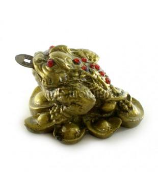 Денежная жаба трёх лапая 4*6*6 см.