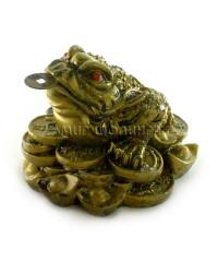 Денежная жаба трёх лапая 6*7*8 см.