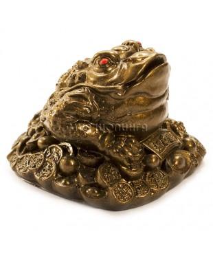 Денежная жаба трёхлапая (цвет бронзовый) 7*9*10 см.