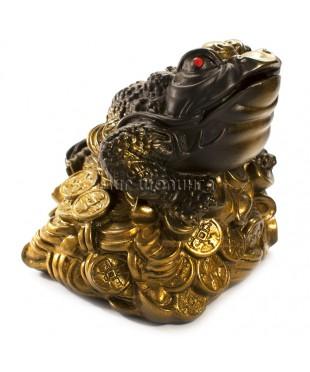 Денежная жаба трёх лапая (копилка) 14*14*14 см.