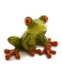 Лягушка с красными лапами 6*10*6 см.