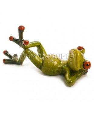 Лягушка на спине 7*7*15 см.