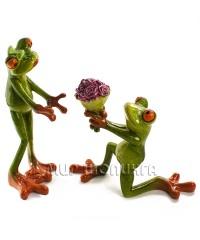 Лягушки с цветами 15*7*5 см.