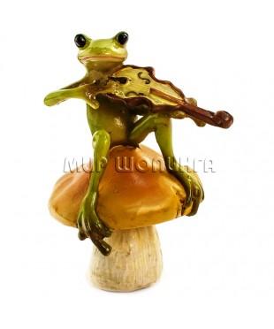 Лягушка со скрипкой 9*5 см.