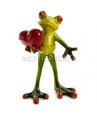 Лягушка с сердцем 14*10*5 см.