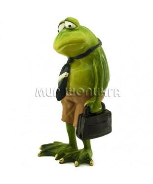 Лягушка с портфелем 17*8*7 см.