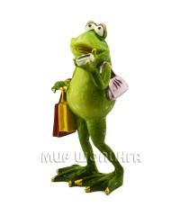 Лягушка с покупками 19*8*9 см.