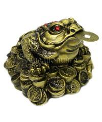 Денежная жаба трёх лапая 7,5*10,5*9,5 см.