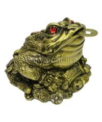 Денежная жаба трёх лапая 9*12*12 см.