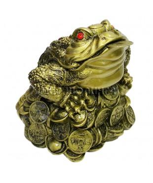 Денежная жаба трёх лапая 15*15*15 см.