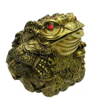 Денежная жаба трёх лапая 18*17,5*18 см.