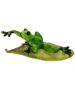 Лягушка на листке 8*22*9 см.