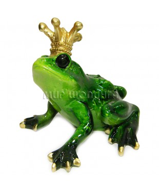 Лягушка с короной 8*10*11,5 см.