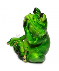 Лягушка с лапой у рта 5*6*4,5 см.