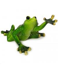 Лягушка тянет переднюю лапку 5,5*10,5*7 см.