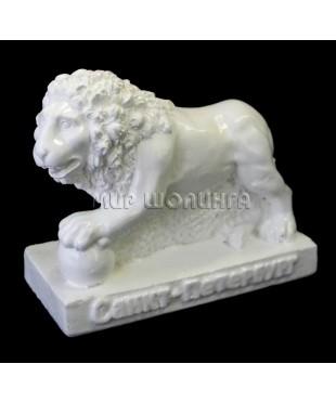Лев (цвет белый) 7 см.